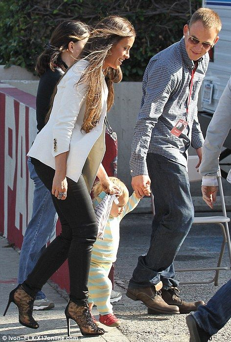 alanis morissette with husband and son...  sooo cute