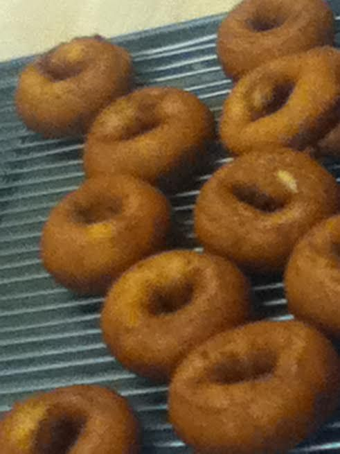 Frying my first doughnut. Feb.2016