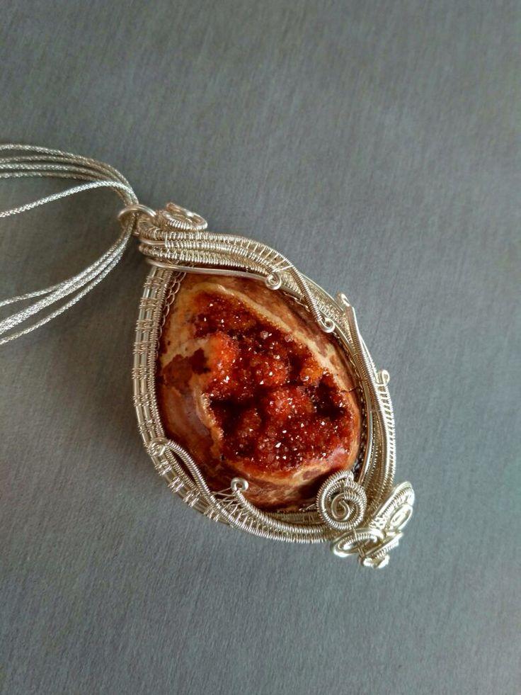 #druzy #wire #pendant #designbyAdis #madeinindonesia #handmade