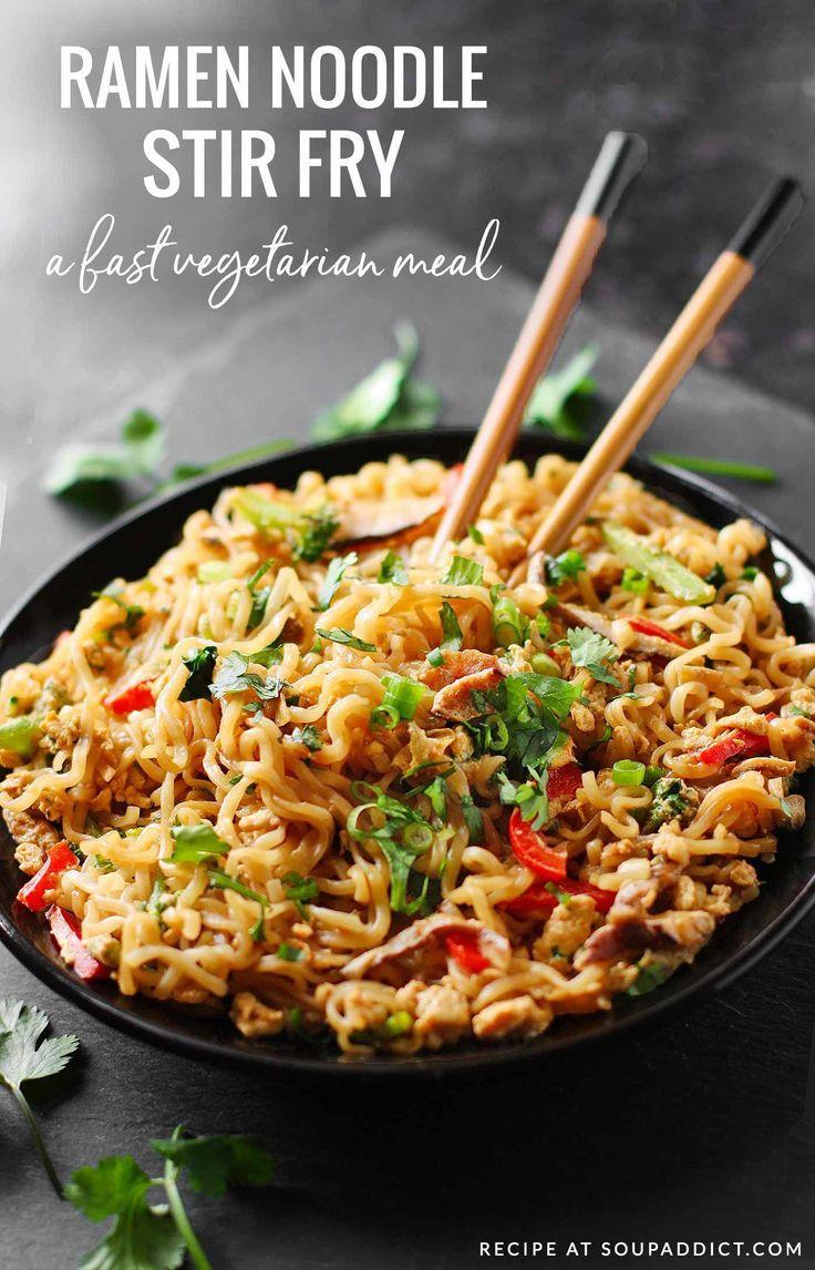 Craveable ramen noodles highlight this veggie-loaded stir fry. Vegetarian and de…