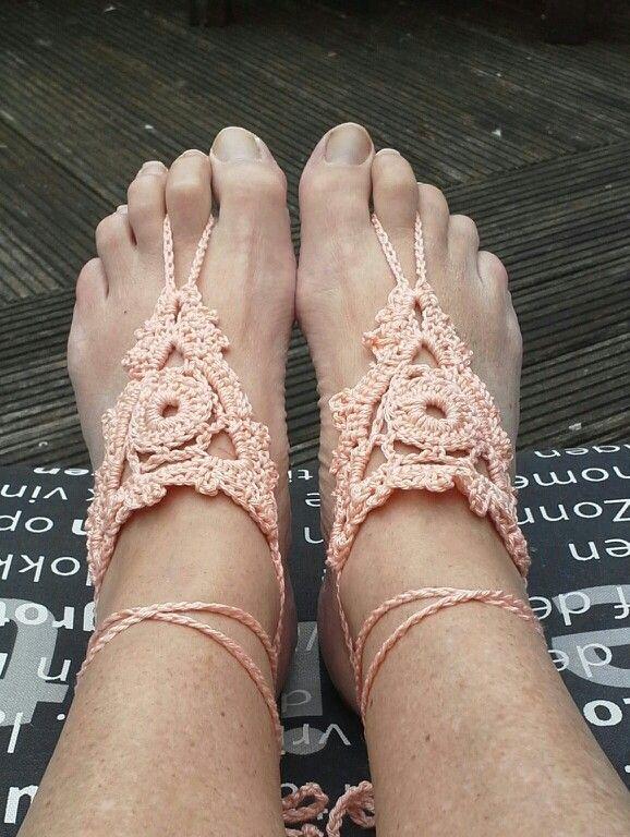 Blote voeten sandalen
