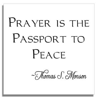 lds quotes about prayer | Custom LDS Missionary Tiles | LdsPriesthoodLine.com