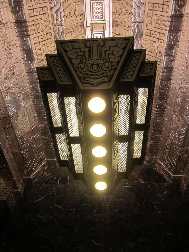 From Wikiwand: Lobby of 450 Sutter Street in San Francisco by Timothy Pflueger, (1929) inspired by ancient Maya art