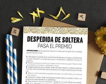 Pass the prize spanish, Despedida de soltera juegos, pasa el premio juegos, bridal shower games spanish, ducha nupcial juegos imprimibles