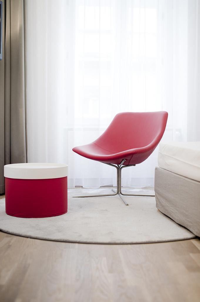 Red designed furniture