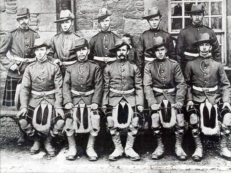 British; Lovat's ScoutThey sailed for South Africa on board the SS Montrose on the 16th March, 1901.Back row: W Rose, J Paterson, P Grant, R Ross, C Bain. Front row: W Holmes, J W Donald, P Ross, B Cruickshank, A Fraser. [Image courtesy of Grantown Museum]. Attached to the Black Watch, they were disbanded in July `901 to form 113th & 114th Companies of the Imperial Yeomanry.