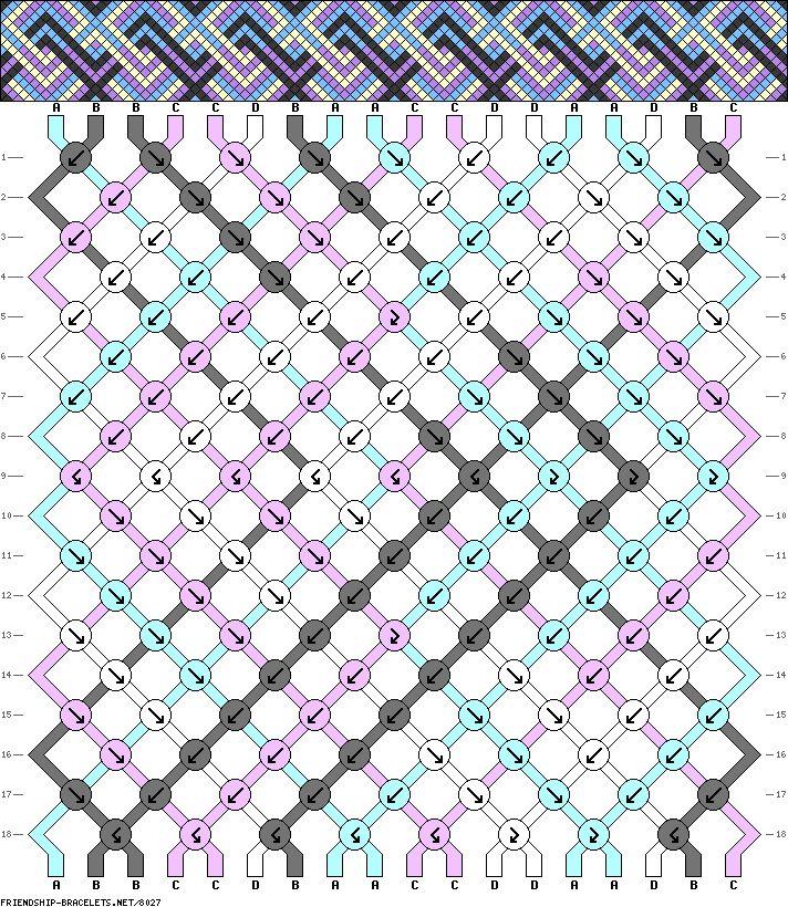 Friendship Bracelet Pattern 8027 new