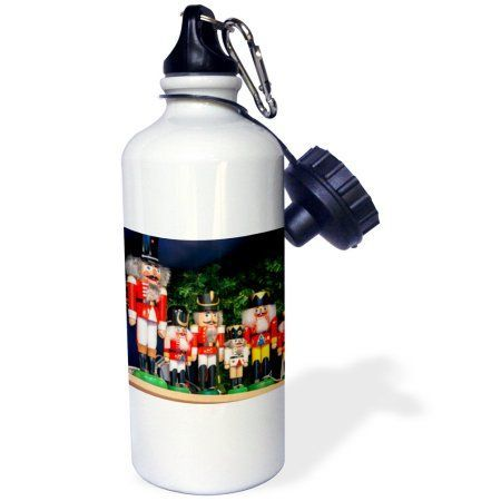 3dRose Nutcrackers for sale, Rothenburg, Germany, Sports Water Bottle, 21oz, White