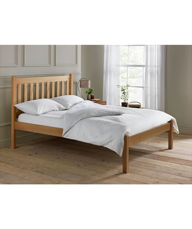 Silbury Small Double Bed Frame Solid Pine With An Oak Stain At Argos