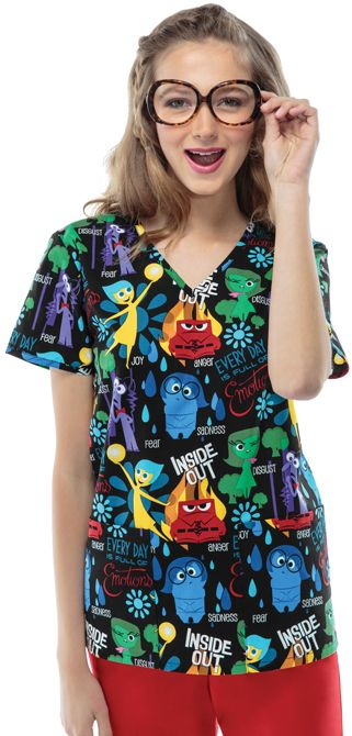 Scrubs - Cherokee Tooniforms 100% Cotton Inside Out Scrub Top | Cherokee Tooniforms Scrubs | Cherokee Scrubs | www.LydiasUniforms.com
