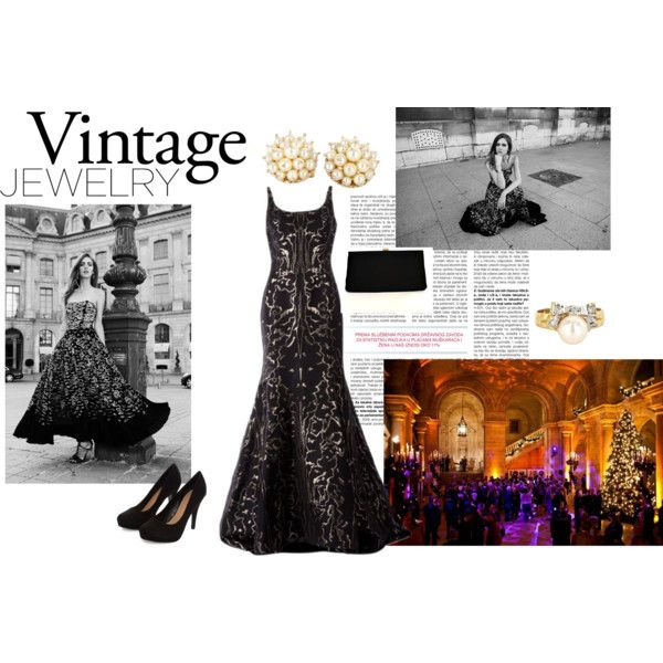 VJ by malirybka1989 on Polyvore featuring Oscar de la Renta and Vintage