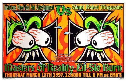 KOZIK EMO'S MASTERS OF REALITY RARE SILKSCREEN 9717 S/N