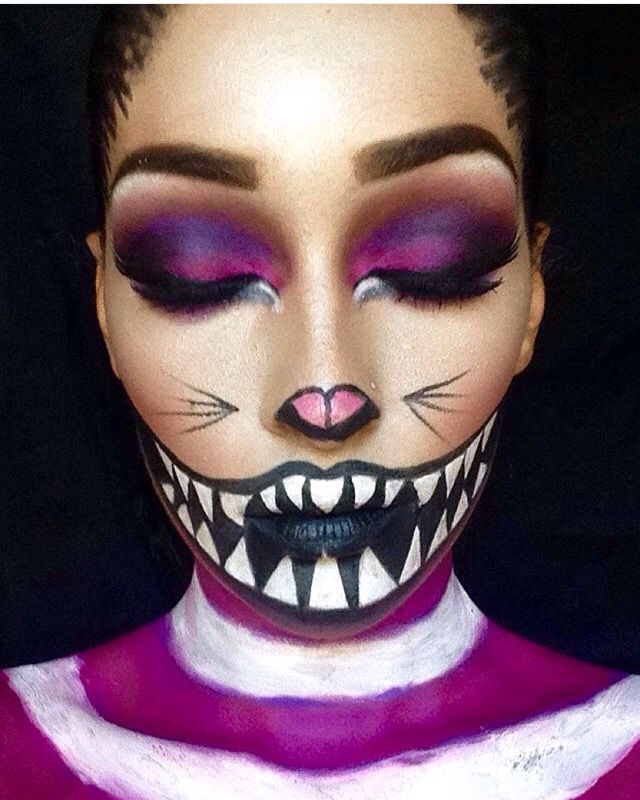 were all mad here cheshire cat cat halloween makeupcheshire - Halloween Makeup For Cat Face