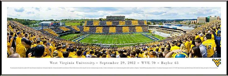 West Virginia University Mountaineers Panoramic - Milan Puskar Picture $99.95