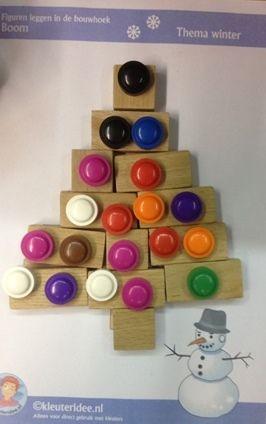 kerstboom kleine blokken