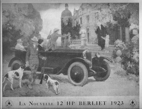 "Pub voiture ""BERLIET"""