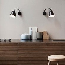 Væglamper over køkkenbordet