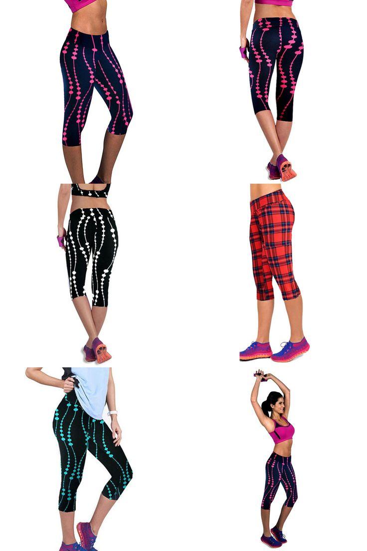 [Visit to Buy] Women 3D Print Plus Size Capris Leggings Sport Fitness Pants Outdoor Training Gym Clothes #Advertisement