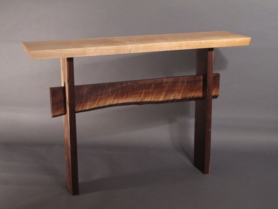 console table w live edge stretcher minimalist modern on small entryway console table decor ideas make a statement with your home s entryway id=92665