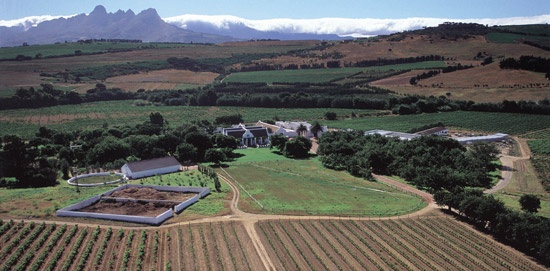 Arial Shot from the Farm - Meerlust