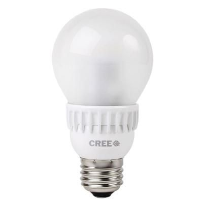 Cree 60W Equivalent Soft White (2700K) A19 Dimmable LED Light Bulb-BA19-08027OMF-12DE26-2U100 at The Home Depot