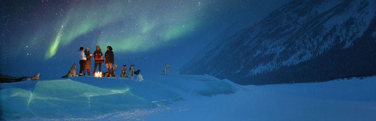 Northern Lights above snowy Alberta Canada