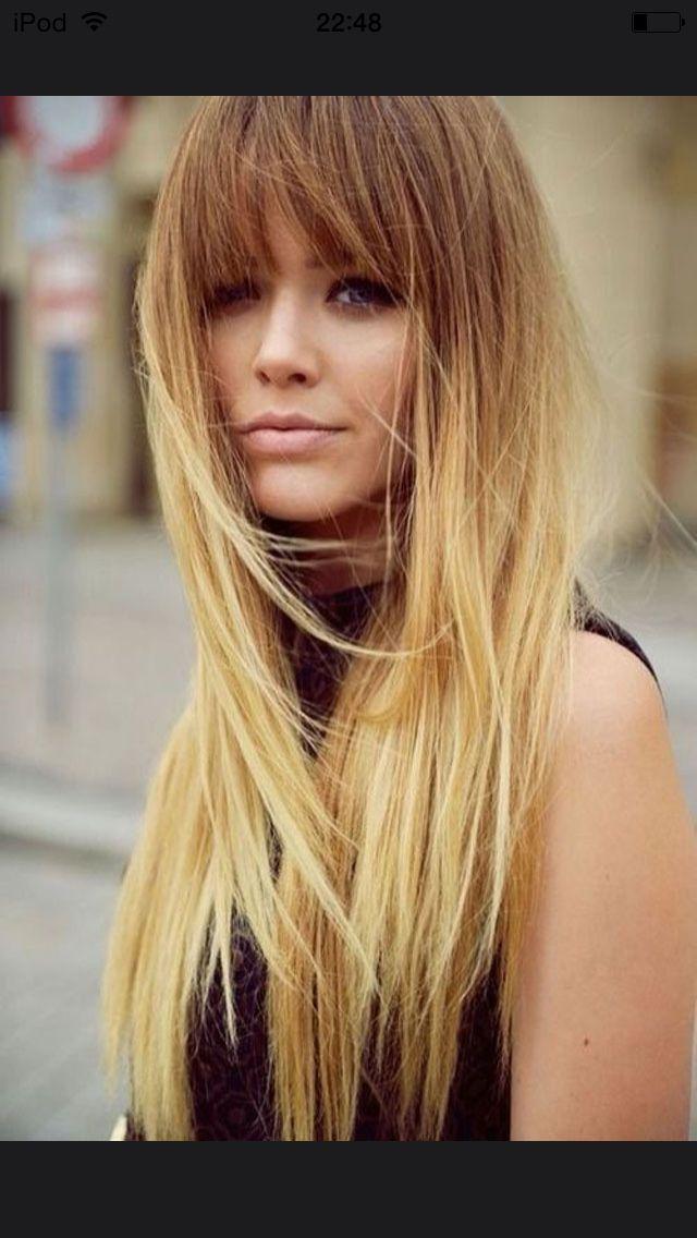 cheveux longs avec franges racine ch tains claires avec base blondes beaut pinterest blondes. Black Bedroom Furniture Sets. Home Design Ideas