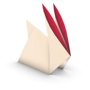 traditional origami rabbit for kids, this is a very easy piece.....ok maybe this one is easier.....LOL