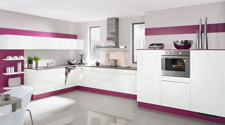 15 best moderne Küchen images on Pinterest Contemporary unit - küchenzeile hochglanz weiß