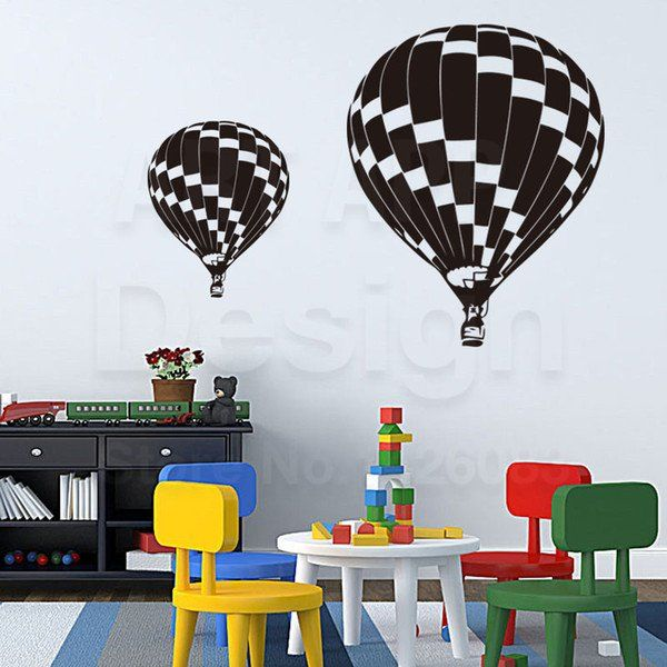 Balloon Decoration On Wall Beautiful Good Quality Art New Design House Decor Vinyl Hot Air Balloon Wall Decals Removable Home Decoration Pvc Cartoon R...