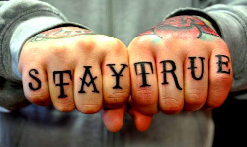 tumblr #tattoos stay true knuckles #tattoo