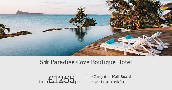 Book 5-star luxury of Paradise Cove Boutique Hotel on your next holiday in Mauritius and save big with our special deal!