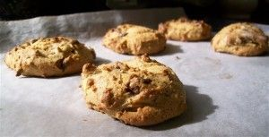 Almond Butter Choc Chip Cookies - Quirky Cooking