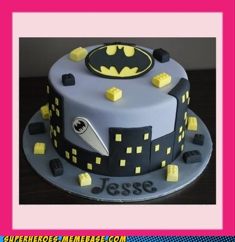 Not only is it a Batman cake. It's a LEGO Batman Cake!!!