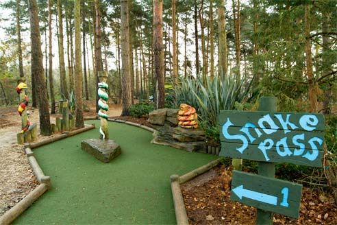 Mini Golf at Center Parcs Elveden Forest   great fun for all ages.    #CPFamilyBreaks