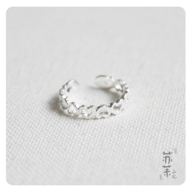 Дешевое S925 чистого серебра в форме сердца открыть кольцо женские эстетические, Купить Качество Кольца непосредственно из китайских фирмах-поставщиках:  ДЕТАЛИ ПРОДУКТА
