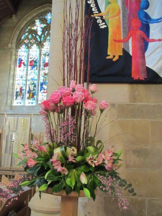church floral arrangement ideas