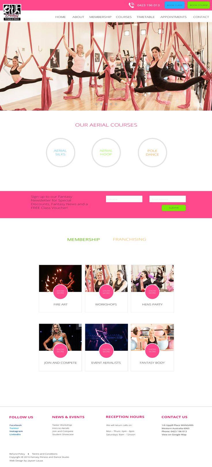 Homepage Desktop Layout