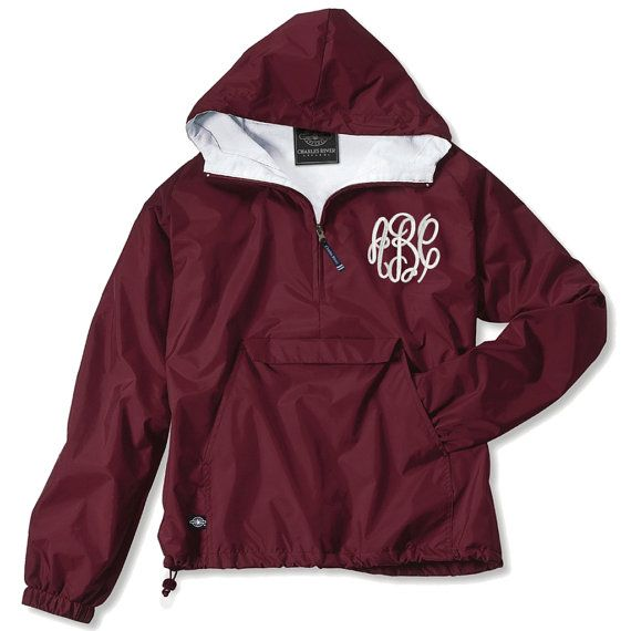 Hey, I found this really awesome Etsy listing at https://www.etsy.com/listing/228668270/monogrammed-lightweight-rain-jacket