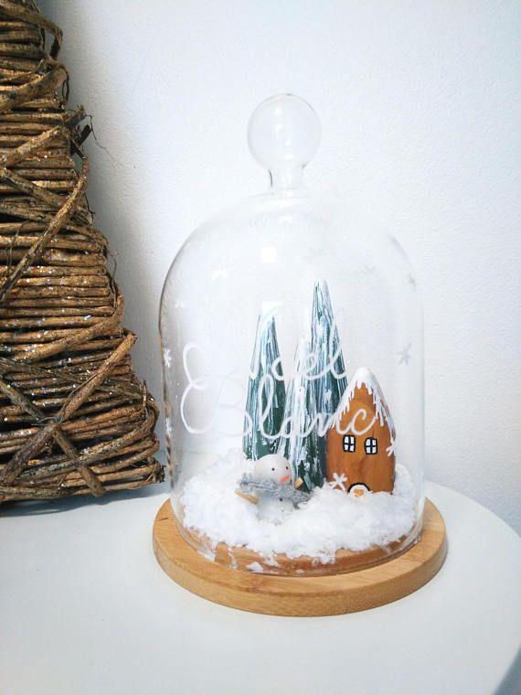 Cloche décorative Noël Blanc Décoration de Noël Décoration à