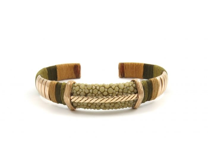 Barong Barong bracelet the bridge rose gold plated