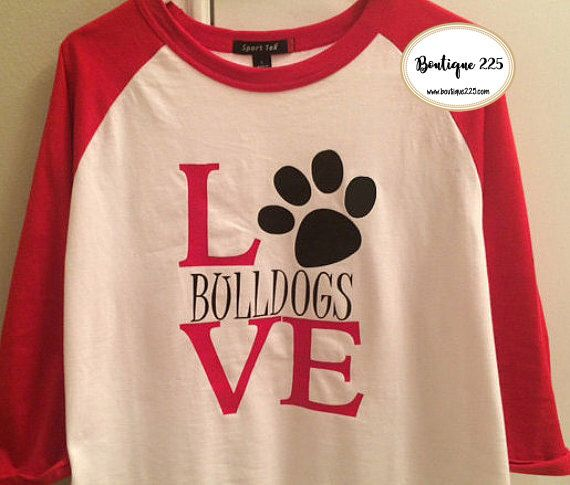 Choose Your Mascot--Bulldog Pride School Spirit Shirt by Boutique225 on Etsy https://www.etsy.com/listing/253129970/choose-your-mascot-bulldog-pride-school