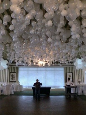 To get balloon to hang upside down... put a marble in the balloon before you blow it up. Gorgeous effect.