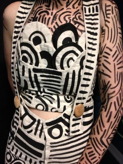 Helen Macintyre's Haring pattern inspired Lederhosen