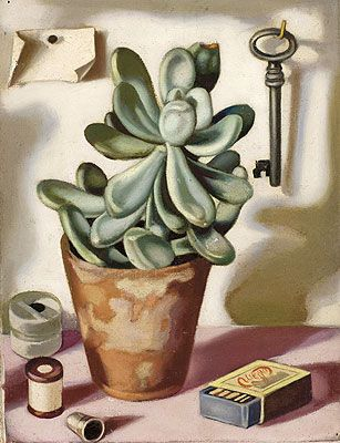 Still Life with Succulent, c.1952 | Tamara de Lempicka (inspired by) | Fine Art Painting Reproduction at TOPofART.com