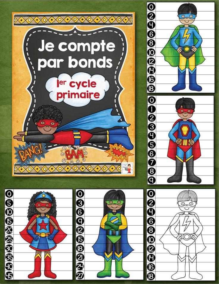 Ce produit numérique et parfait pour vos centres de mathématiques. Vos élèves raffoleront des images de super-héros qu'ils devront replacer en ordre tout en comptant par bonds de 1, 2, 3, 4, 5 ou par bonds de 10. Imprimez sur du carton rigide, plastifiez, découpez et comptez par bonds pour assembler les puzzles des super héros. Ce fichier .PDF inclus : (23 pages) 5 puzzles de super-héros en 3 versions différentes (version numérotée, version noir et blanc, version à éditer) $