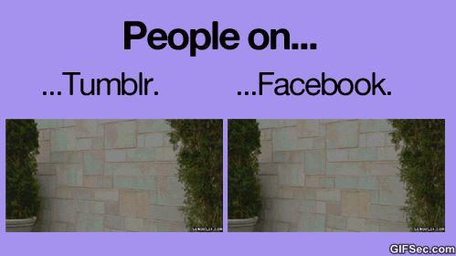 Facebook vs tumblr