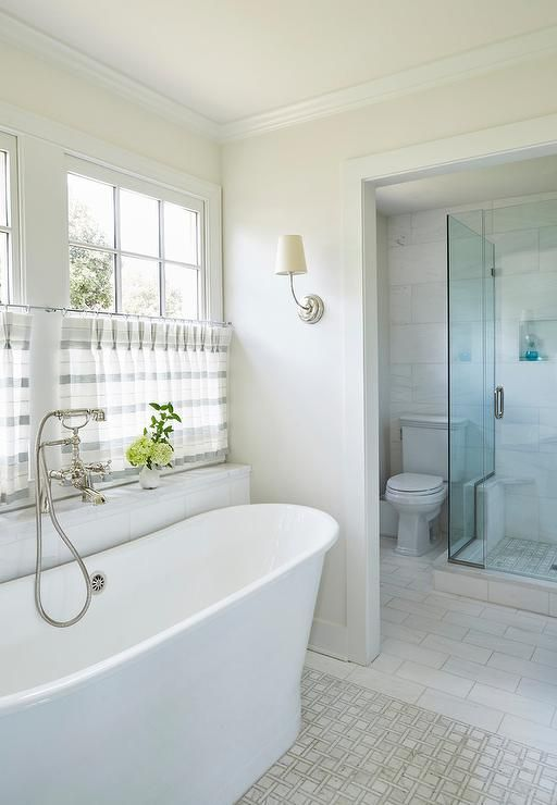 Welcoming white and gray bathroom