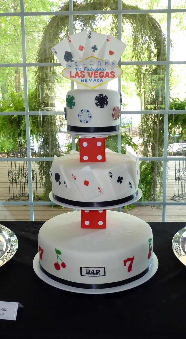 Vegas Themed Wedding Cake Poker Cakes Las Casino
