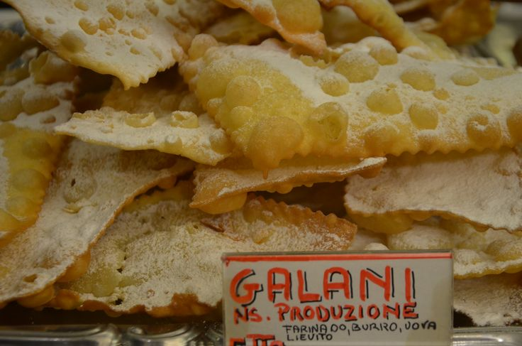 Galani, one of the Carnival pastries of Venice with its origins in Ancient Rome.